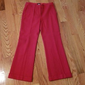 J crew red wool trouser size 2